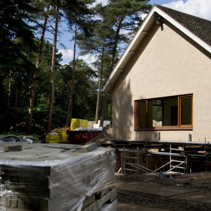 a house under repair
